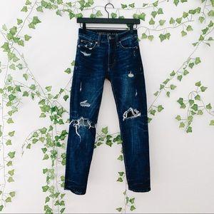 American Eagle Dark Wash Distressed Skinny Jeans